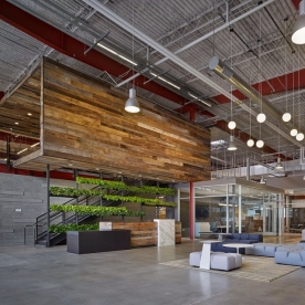 As an office that values #creativity, #innovation, and #collaboration, Team One wanted their new space to reflect those core values. #architecture