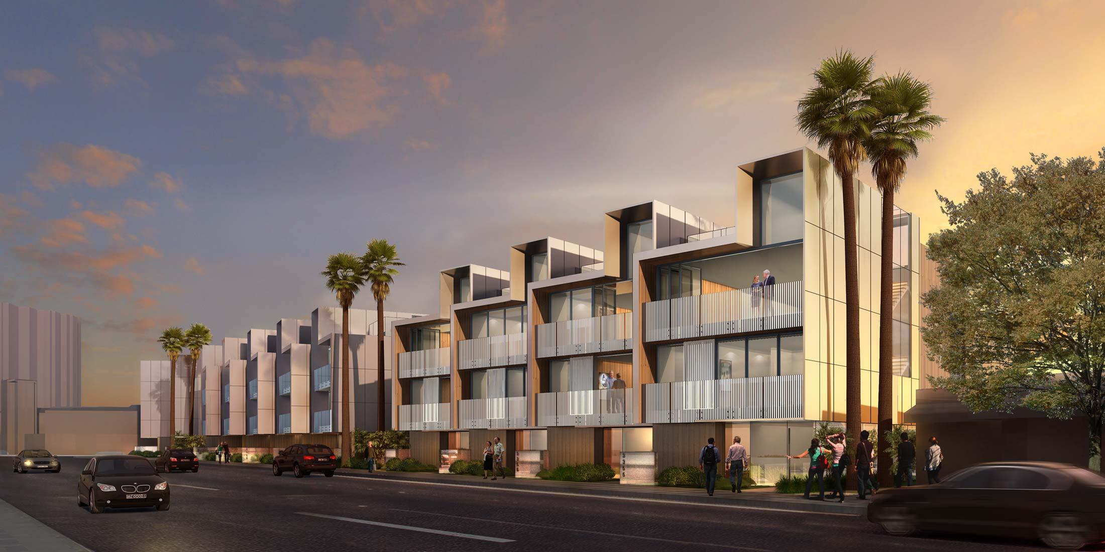 Via lido townhouses shubin donaldson for Contemporary residential buildings