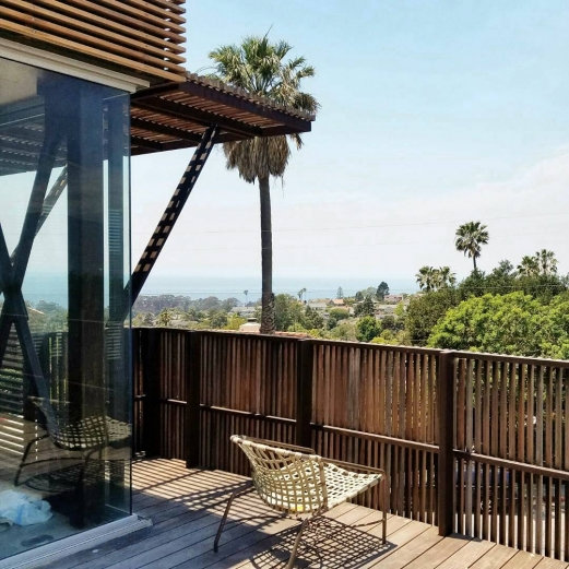 The view from the Skyline Residence. . . . . #skyline #shubindonaldson #wood #beautifulview #beach #santabarbara #beautifulhomes #concretebuilding #woodfacade #oceanview #architecture