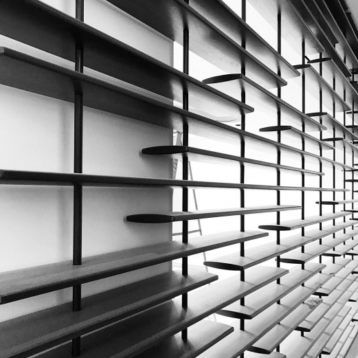 Louvered Screen. . . . . #shubindonaldson #architecture #california #design #louvers #screen #details #perspective #blackandwhite